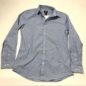 H&M Slim Fit Easy Iron Men S Shirt Top Button Down